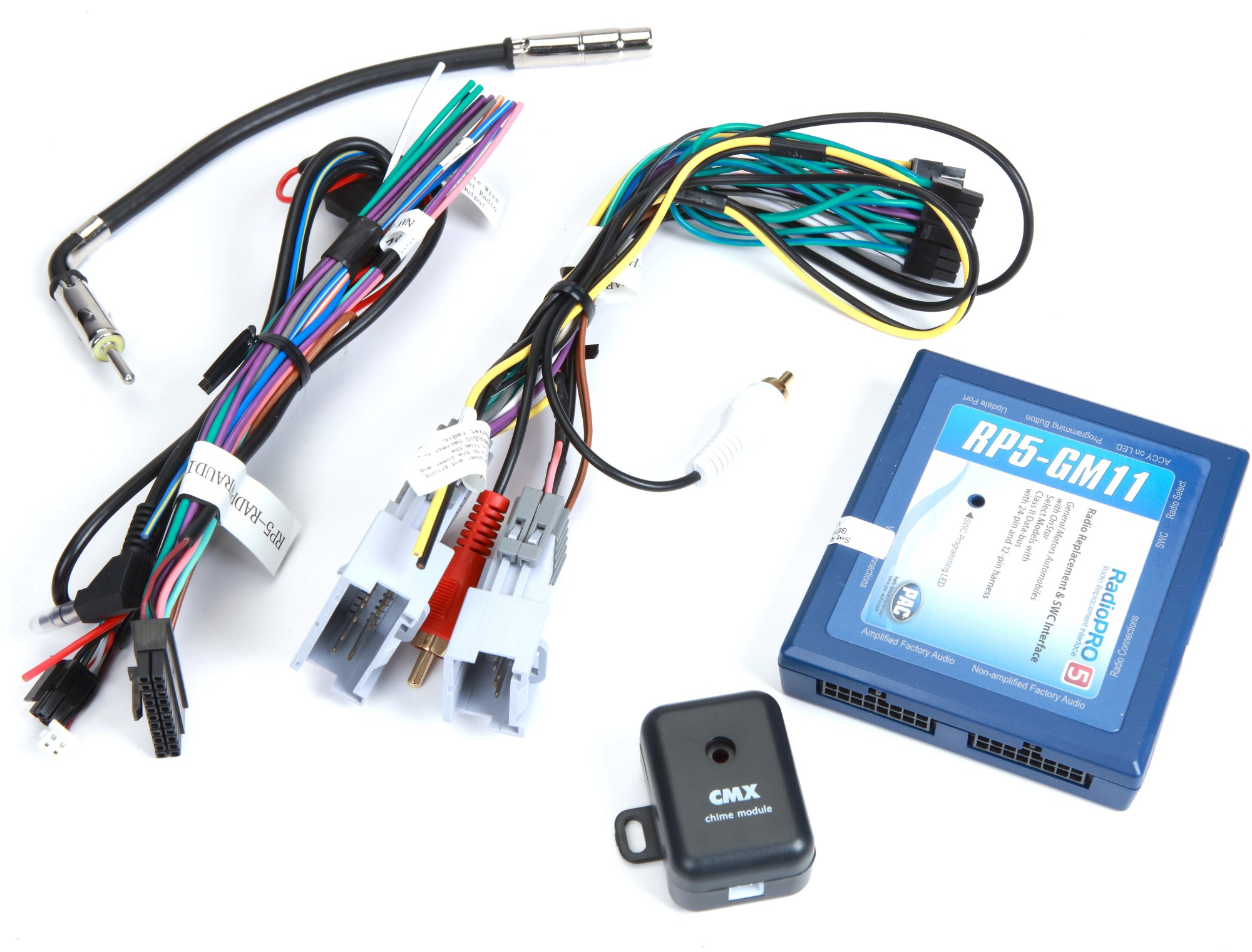 hight resolution of pac rp5 gm11 wiring interface connect a new car stereo and retain onstar factory amp and steering wheel audio controls in select 2000 up gm vehicles at