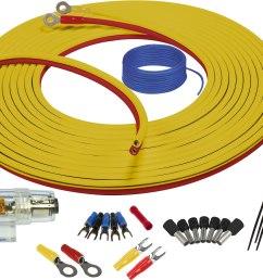 stinger sea4283 9 8 feet 8 gauge marine amplifier wiring kit at marine electrical audio wiring kit [ 2840 x 1954 Pixel ]