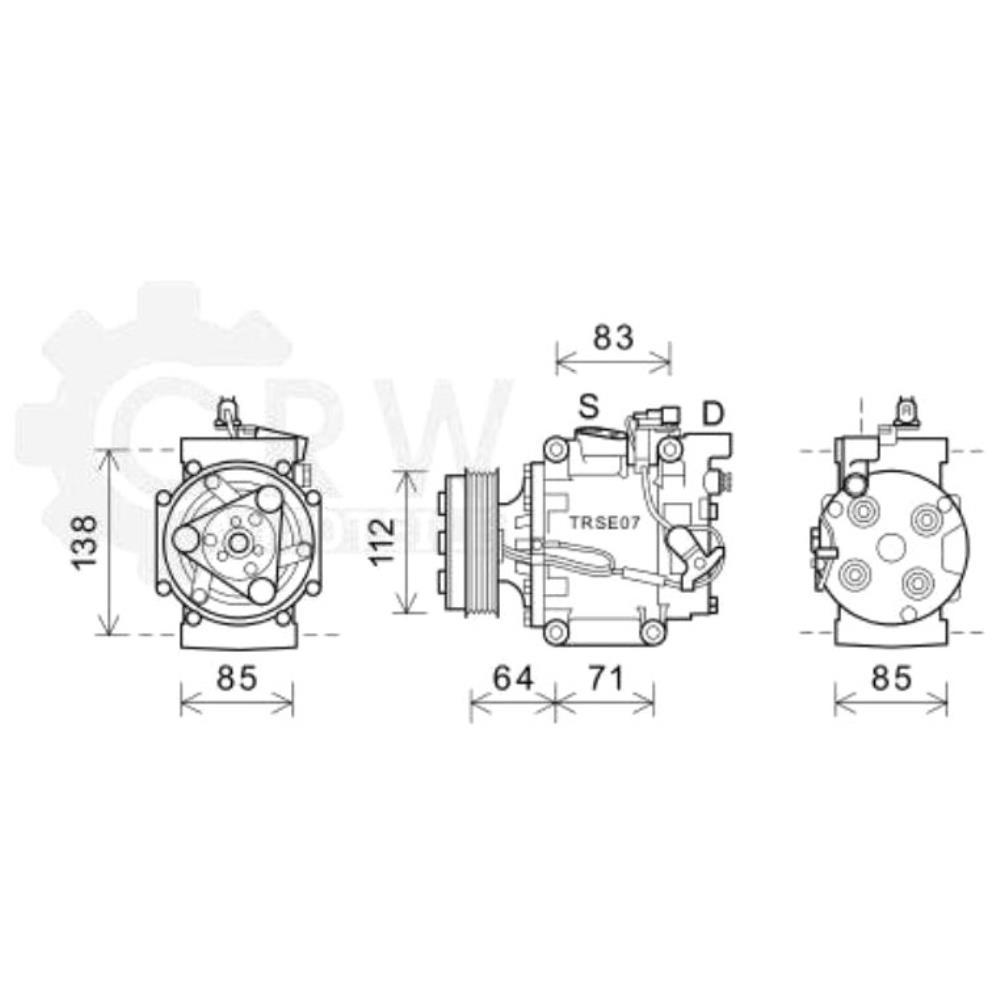 Kompressor Klimaanlage Klimakompressor für Honda Civic