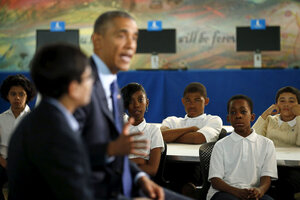 President Obama speaks to middle schoolers