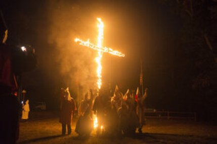 Image result for burning crosses kkk in front yard