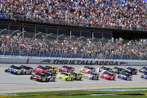 Talladega provides one of closest NASCAR finishes in