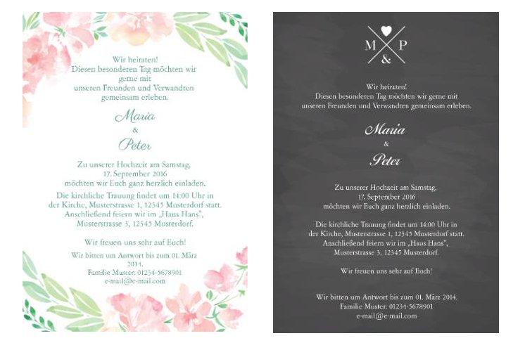 Hochzeitsfest Einladung