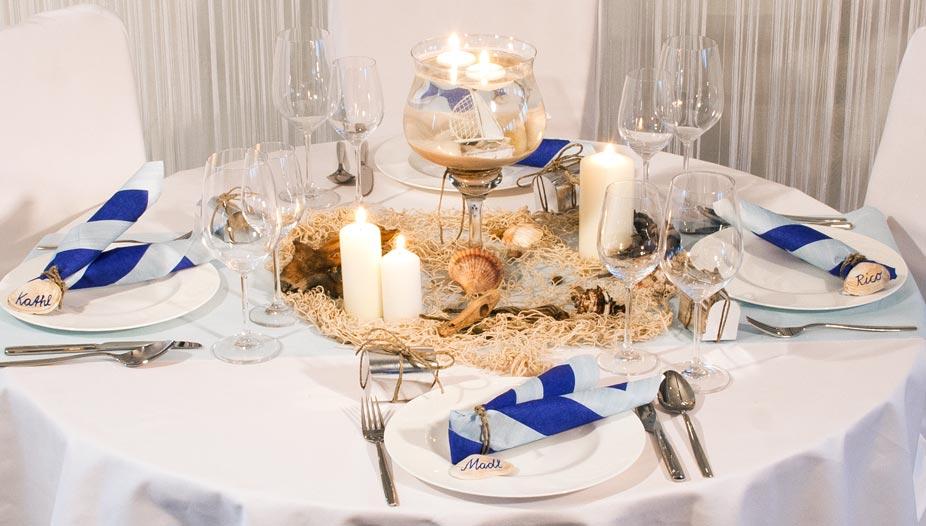 Beispiele fr traumhafte Tischdeko zur Hochzeit nach