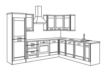 Easy Kitchen Design Drawing
