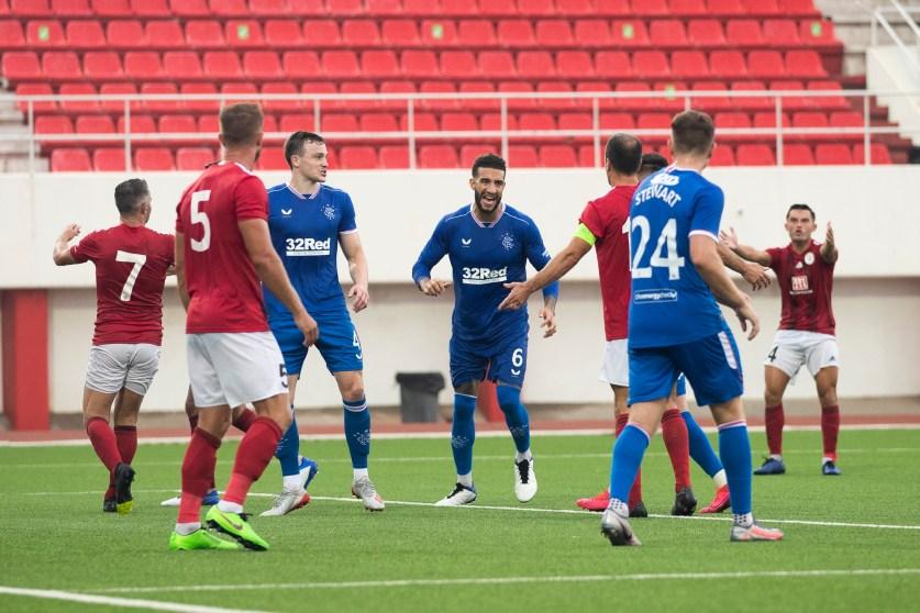 170920 Red Imps v Rangers Goldson Goal Celebration 46