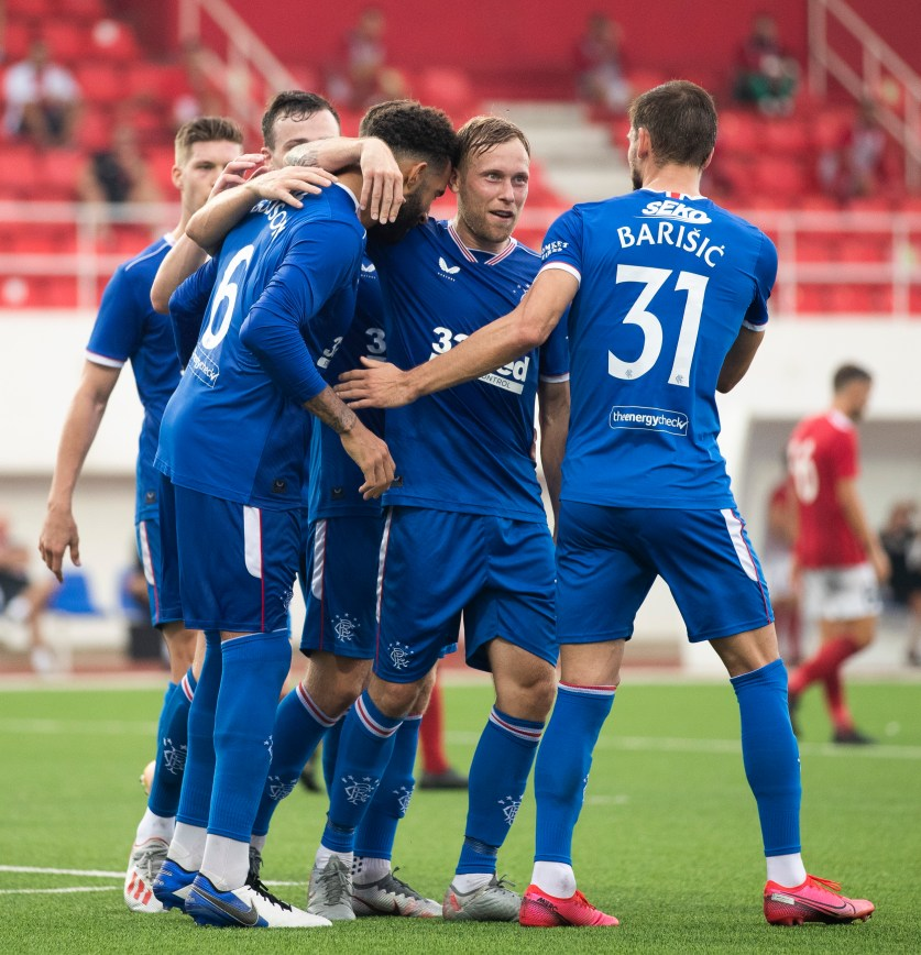 170920 Red Imps v Rangers Goldson Goal Celebration 51