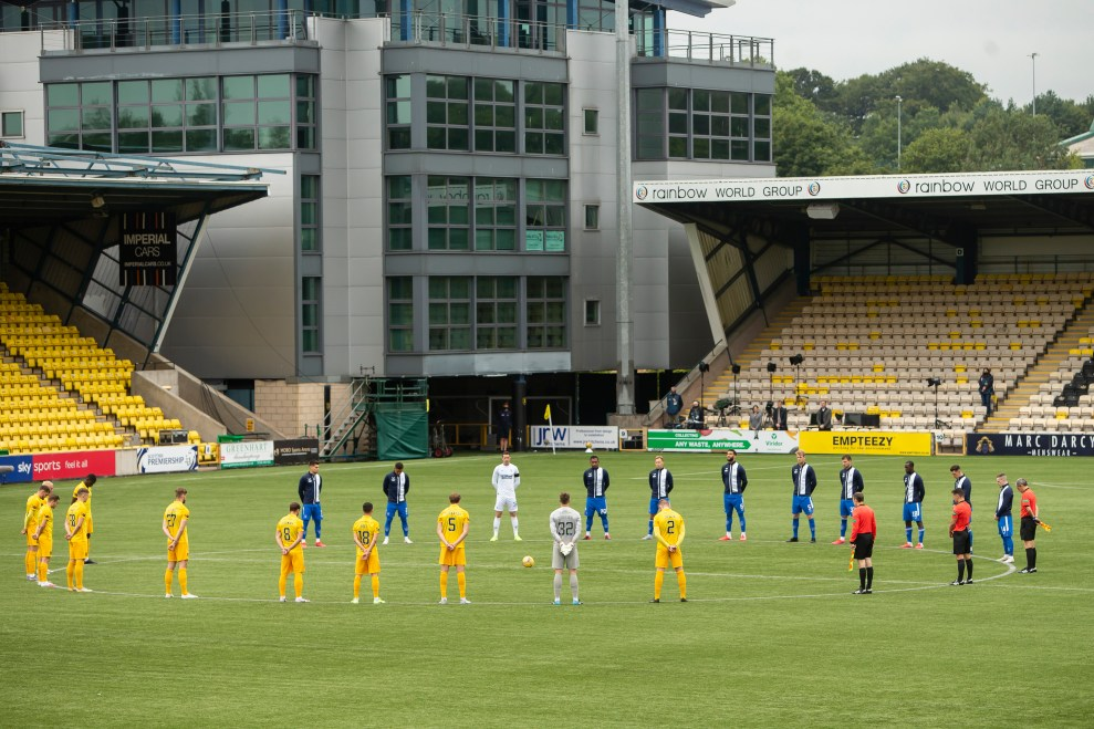 160820 Livingston, Rangers Minute Silence 20