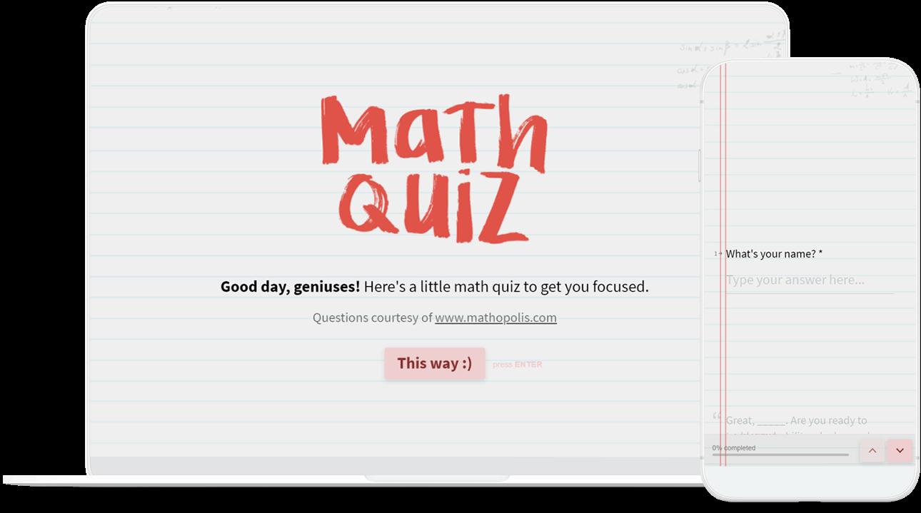 Online Test Maker Create Your Own Interactive Test Typeform