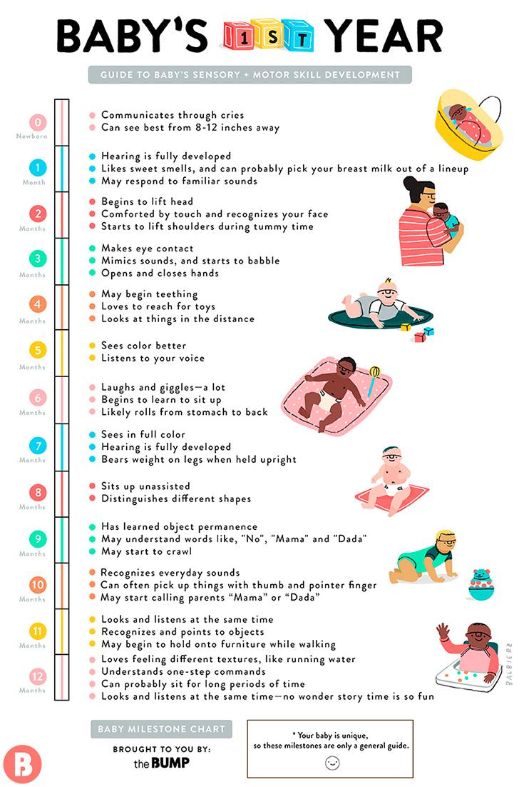 month old baby milestones newborn milestone timeline also monthly chart rh thebump