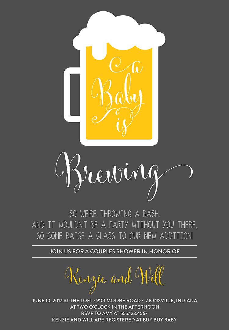 Coed Baby Shower Invitation Wording – 1