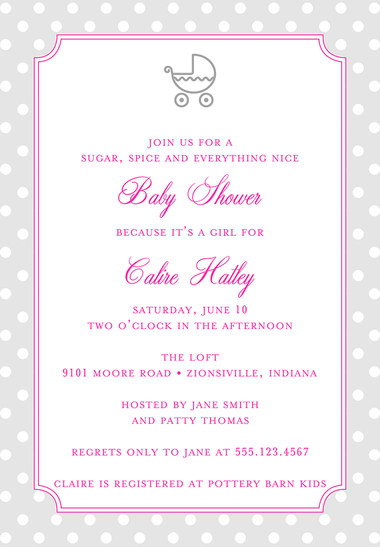 Baby Shower Invitation Wording for a Girl – 1