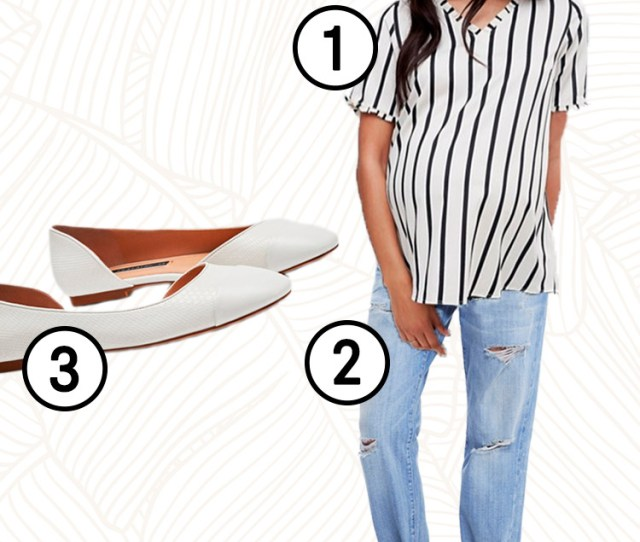 Maternity Clothing Guide Spring Jeans Blouse