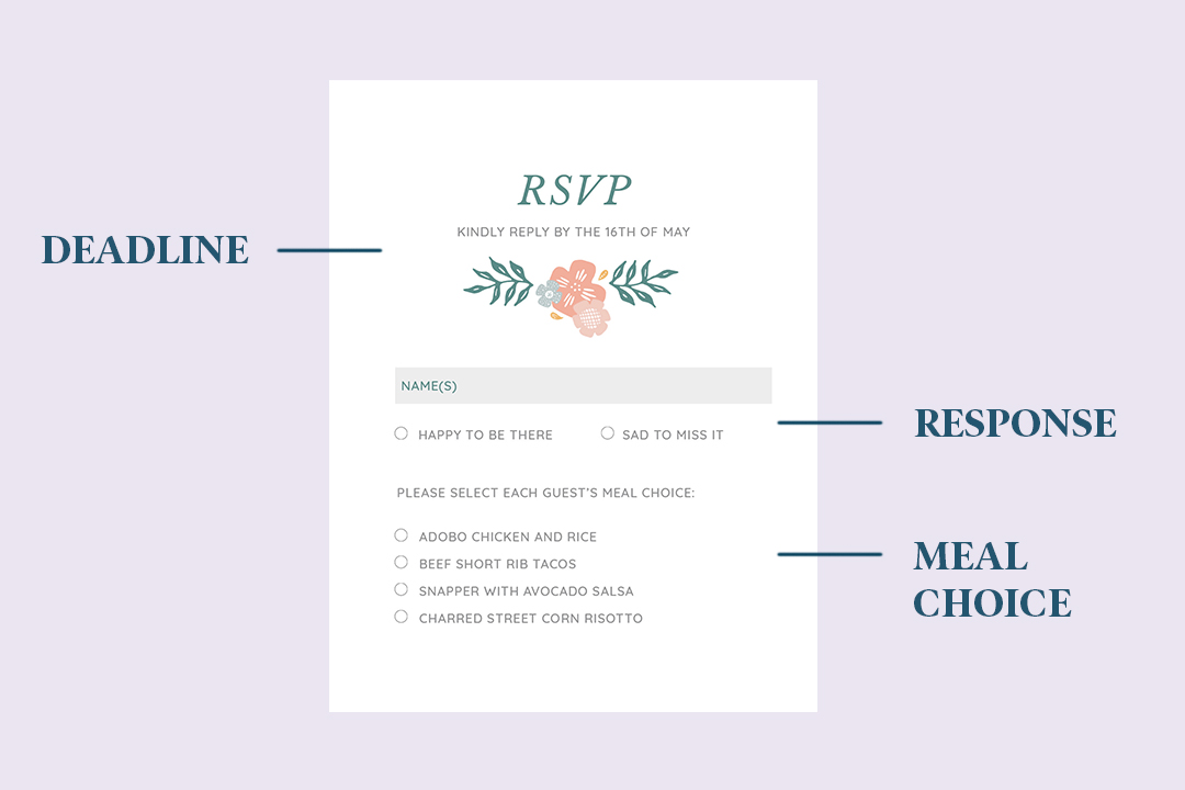 how to rsvp to a wedding wedding rsvp