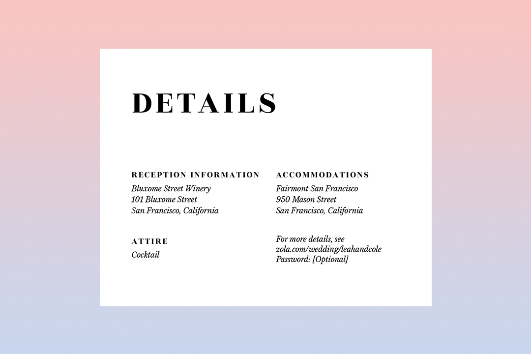 a guide to invitation enclosure cards
