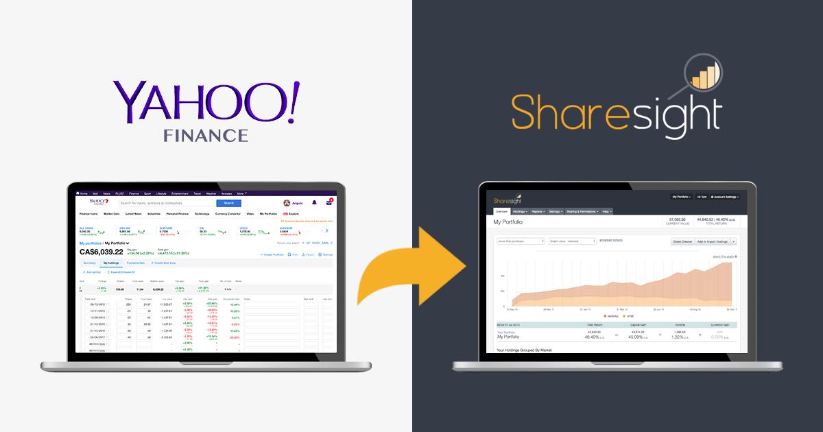 Easily import your Yahoo Finance portfolio into Sharesight   Sharesight