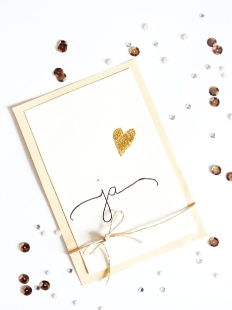 Schne Einladungskarten zur Hochzeit selbst basteln  auf