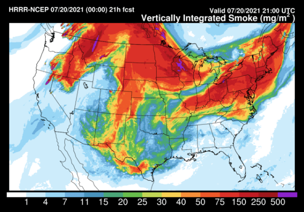 29/07/2021· july 29, 2021, 11:17 am utc by monica hersher and jiachuan wu large and unrelenting wildfires in the western united states and southern canada are producing so much smoke that even the east coast. The View From Space As Wildfire Smoke Smothers Large Swaths Of North America Discover Magazine