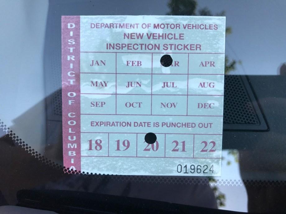 inspección de carros en washington