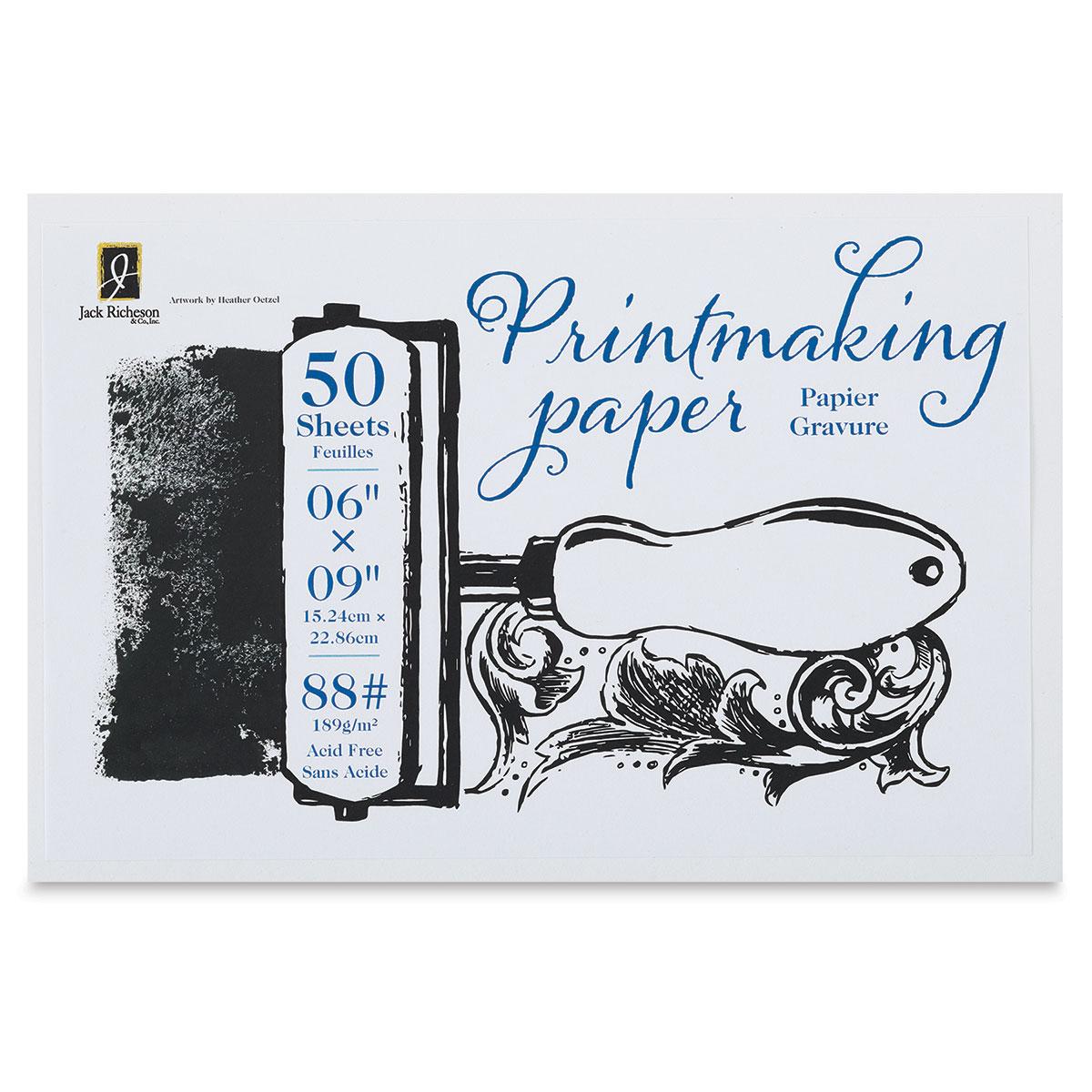 Richeson Bulk Printmaking Paper - 6'' x 9'', 50 Sheets, 88 lb