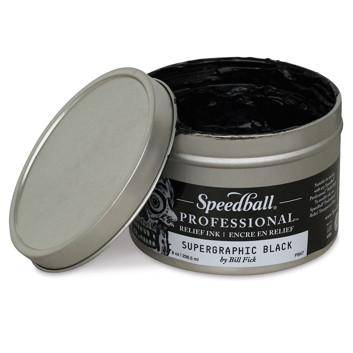 Speedball Professional Relief Ink - Supergraphic Black, 8 oz