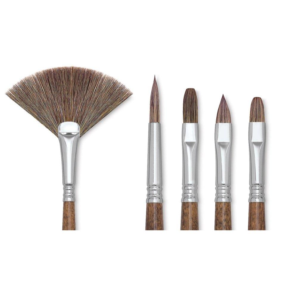Escoda Versatil Brush - Flat, Size 4, Long Handle