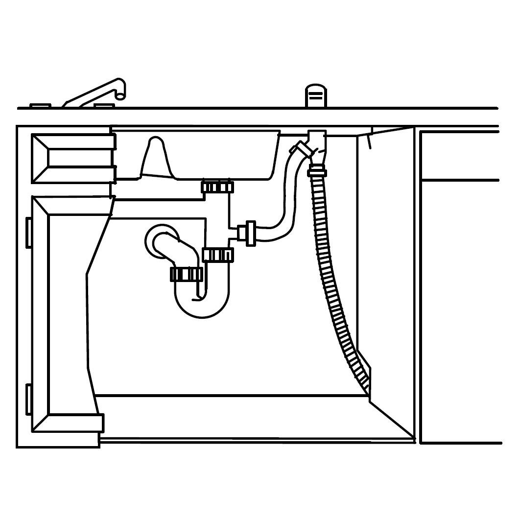 hight resolution of dishwasher plumbing diagram