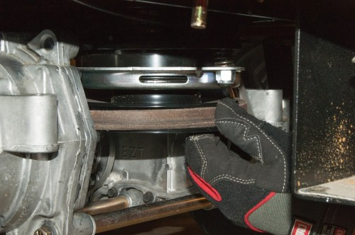 small resolution of reinstall the belt on the electric clutch