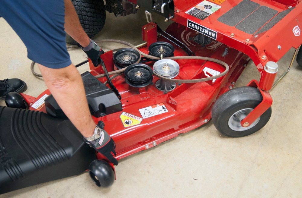 medium resolution of pull the mower deck out