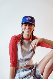 baseball hat hair accessory