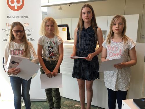 Palkitut 11-13 -vuotiaat, Jemina Siltanen puuttuu kuvasta