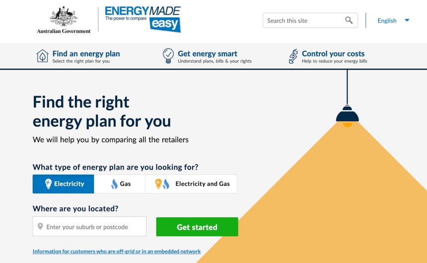 energymadeasy website homepage