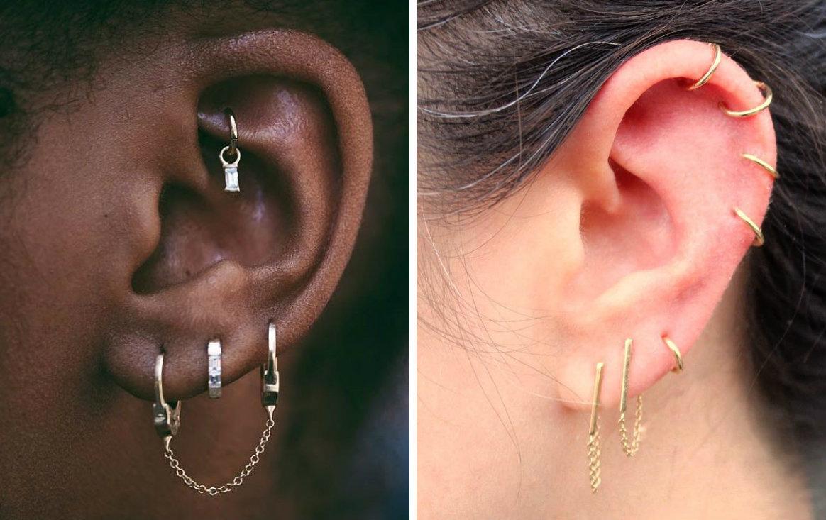 16 Gorgeous Ear Piercing Combinations Cafemom Com