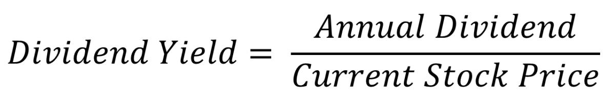 Dividend Yield Formula