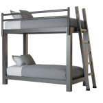 Twin Xl Over Twin Xl Bunk Bed Adultbunkbeds Com