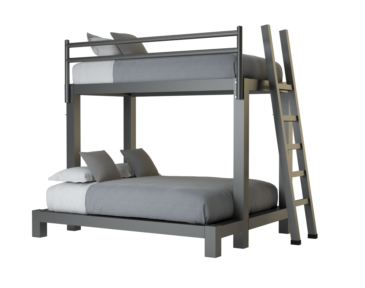 Twin Over Queen Bunk Bed Adultbunkbeds Com