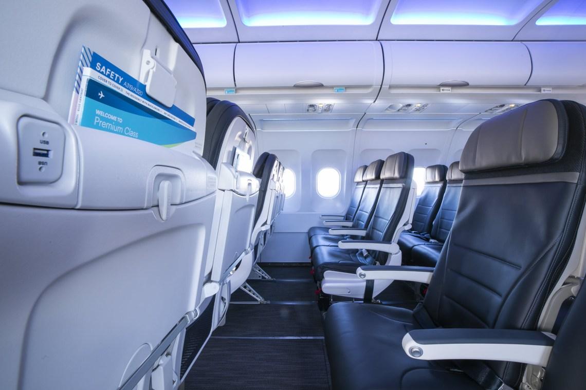 Alaska Airbus cabin interior