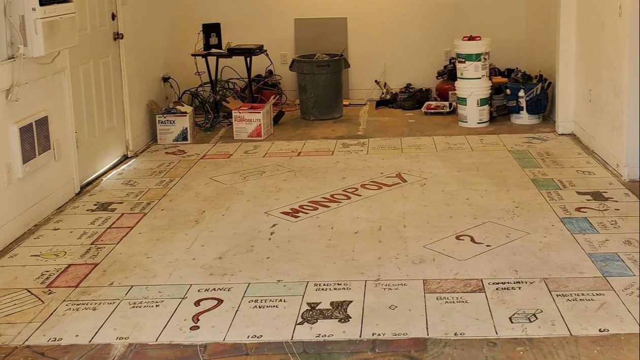 homeowners rip up old carpet and find
