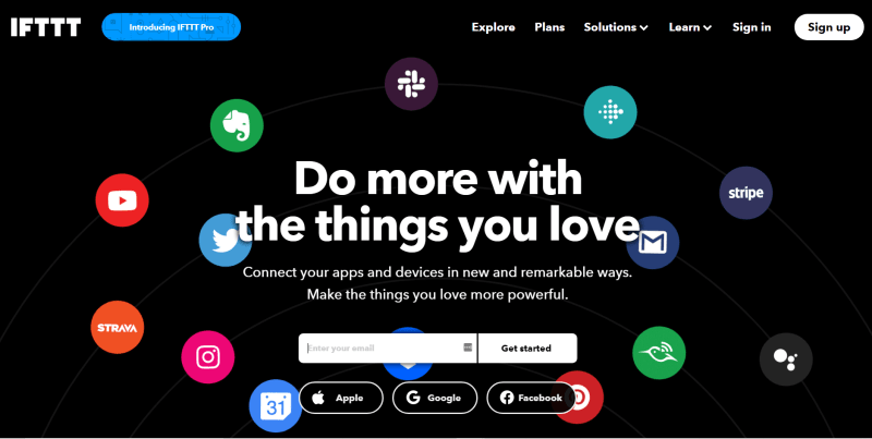 ifttt home page