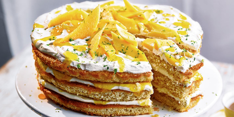 Mango lassi layer cake  Recipes  Coop
