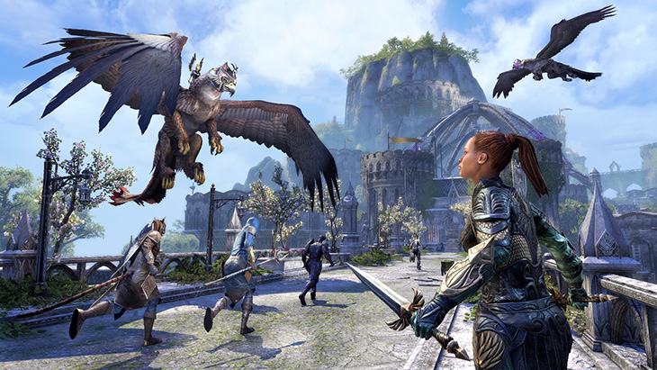 ESO SummersetPreview GryphonAttack