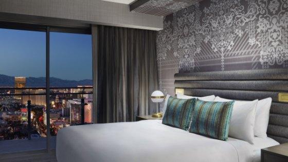 Las Vegas Luxury Hotel  Terrace One Bedroom Fountain View