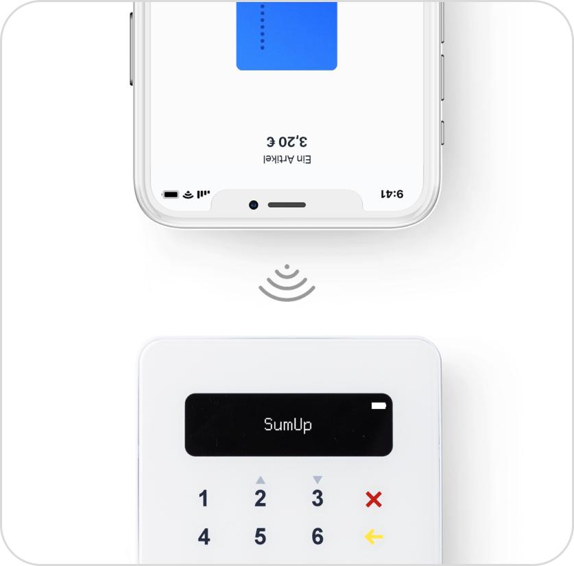 Connessione del lettore SumUp Air allo smartphone