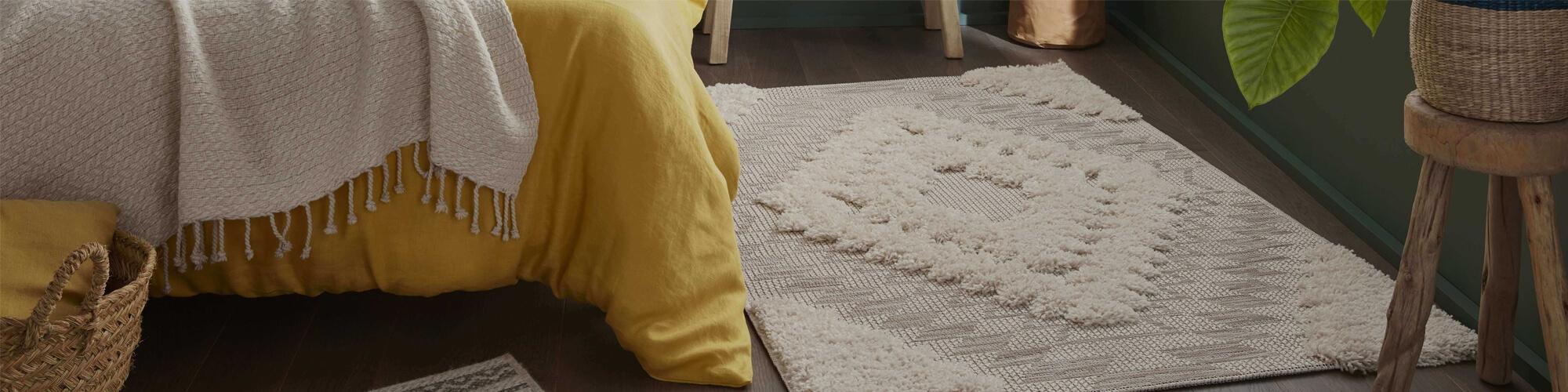 tapis shaggy rond saint maclou