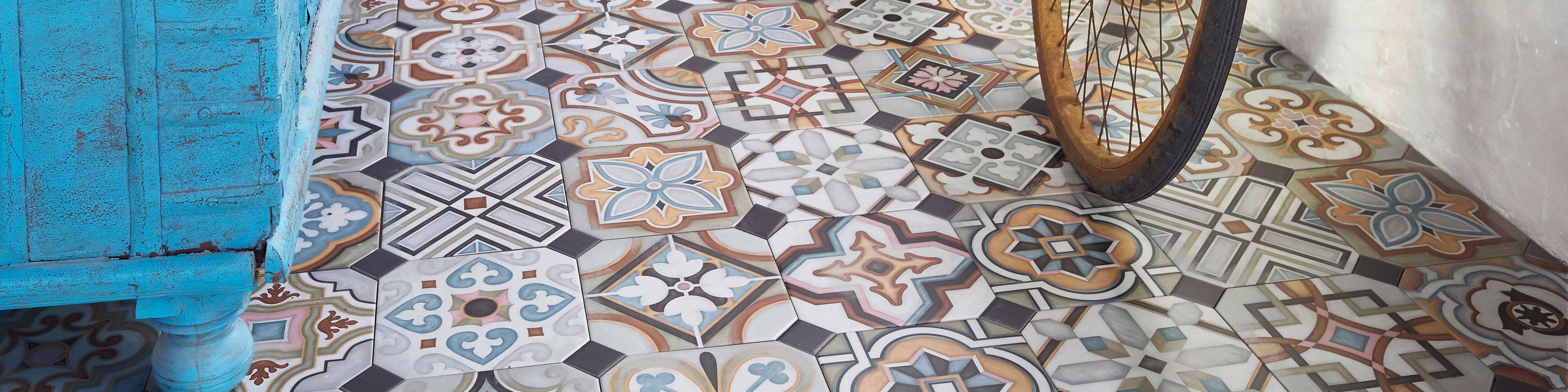 carrelage imitation carreaux de ciment carrelage motif saint maclou