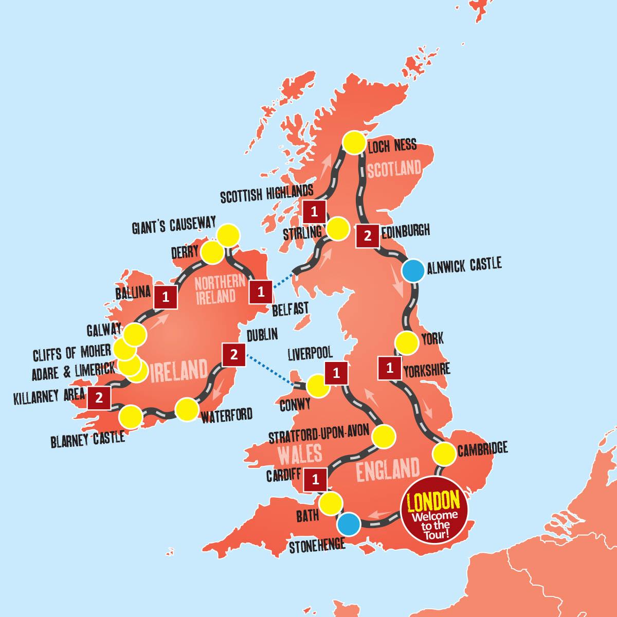 best ireland tours uk