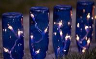 Wine bottle garden lights
