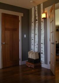 How to: Make Life-Size DIY Birch Tree Trunk Wall Art ...