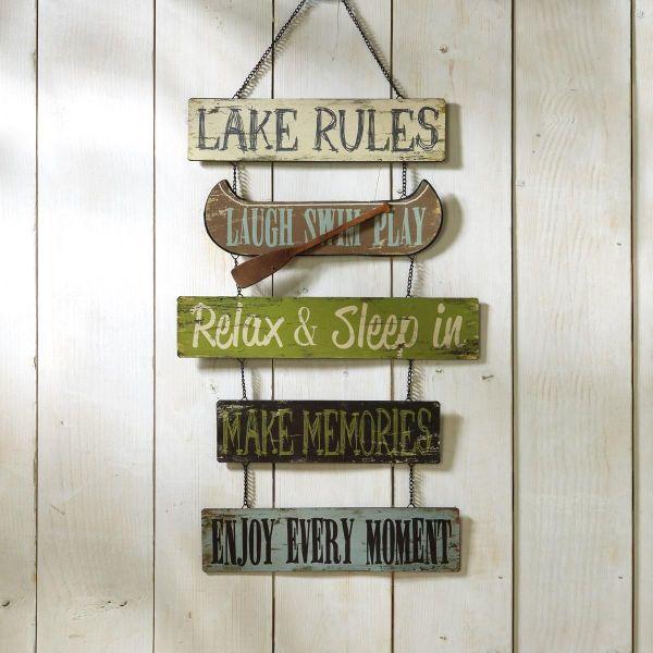 Lake Rules Rustic Metal Sign Current Catalog