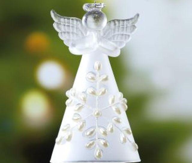 Glass Snow Angel Christmas Ornament Bogo
